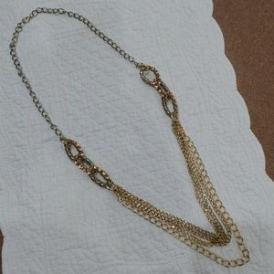 Gold Chain & Crystal Stone Fashion Necklace!!!